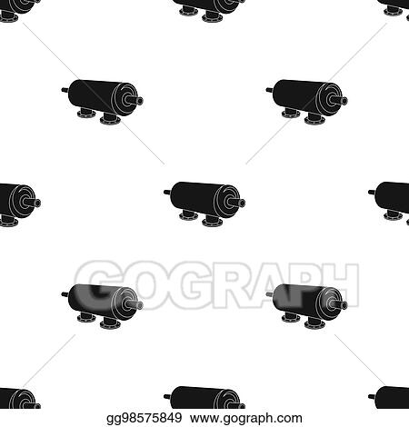 Stock Illustration Water Filter Machine Icon In Black Style