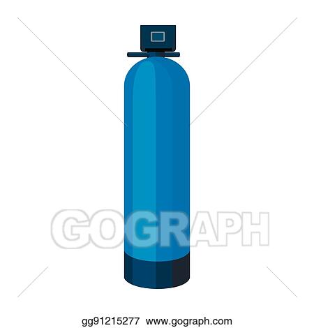 Vector Art Water Filter Machine Icon In Cartoon Style Isolated On