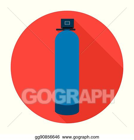 Vector Stock Water Filter Machine Icon In Flat Style Isolated On