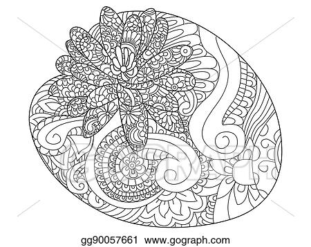 Water Lily Flower Coloring Raster For Adults
