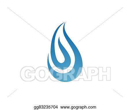 EPS Illustration Water Logo Template Vector Clipart Gg83235704