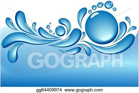 Water splash wave. Eps illustration vector background