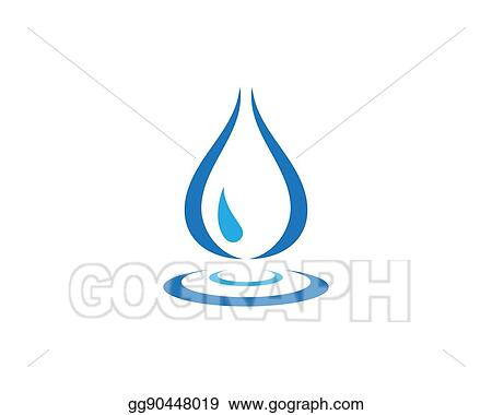 Vector Stock Water Wave Logo Template Clipart Illustration