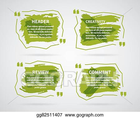 vector art watercolor ink splash quote blank templates quote