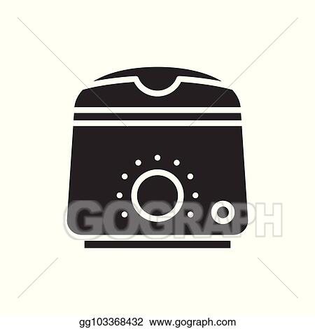 Vector Clipart Wax Heater Warmer Silhouette Icon Paraffin