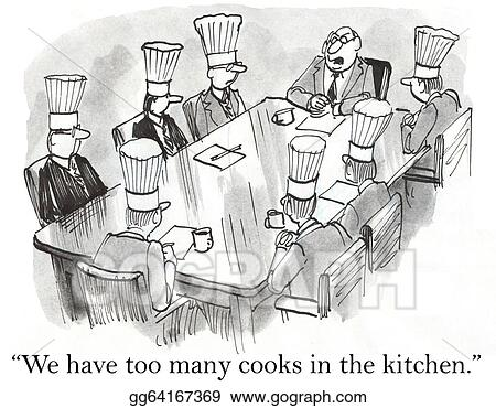 drawing we have too many cooks in the kitchen clipart drawing rh gograph com cooks in the kitchen song cook in the kitchen jig