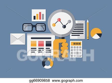 Vector Illustration - Web analytics illustration  Stock Clip
