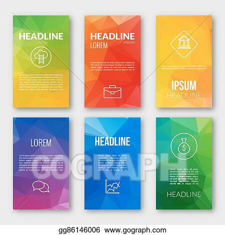 vector art web design set template business triangular banners