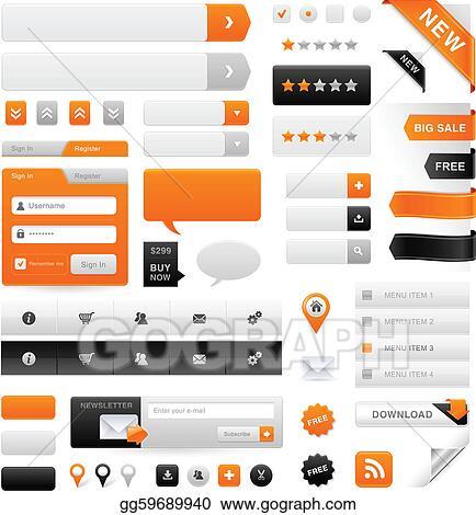 Vector Clipart - Website graphics set  Vector Illustration