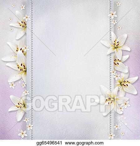 stock illustration wedding background with flowers for