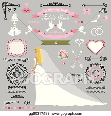 wedding bridal shower decor setbride invitation kit