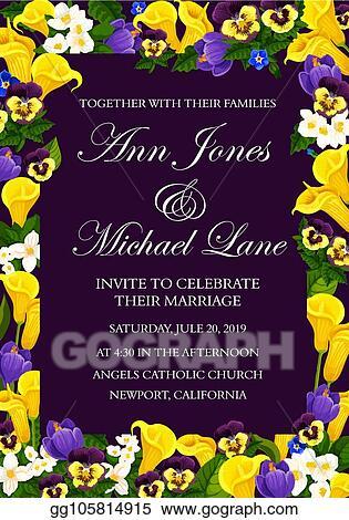 Vector Illustration Wedding Ceremony Invitation Floral Banner Design Eps Clipart Gg105814915 Gograph,Beautiful Master Bedroom Designs For Girls