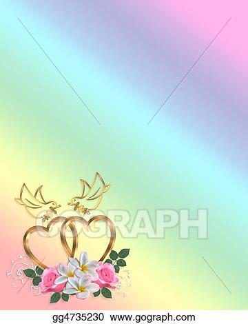 clip art wedding corner design stock illustration gg4735230 gograph