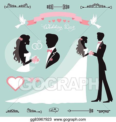 Eps vector wedding decor setflat silhouette bridegroom stock wedding decor setflat silhouette bridegroom junglespirit Choice Image