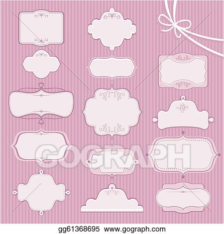 Eps illustration wedding frames vector clipart gg61368695 gograph wedding frames junglespirit Images