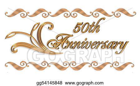 Stock Illustration Wedding Invitation Border Gold 50th Clipart Illustrations Gg54145848 Gograph
