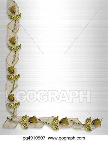 Stock Illustration Wedding Invitation Border Gold Clip Art
