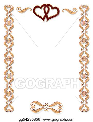 Drawings wedding invitation border gold stock illustration wedding invitation border gold stopboris Image collections