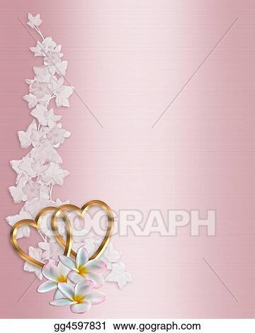 Stock Illustration Wedding Invitation Border Pink Clip Art