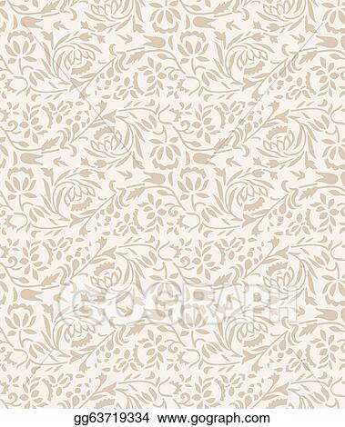 Vector Clipart Wedding Invitation Card Background Vector Illustration Gg63719334 Gograph
