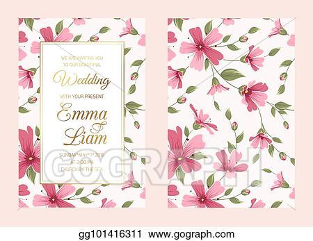 vector stock wedding invitation card template luxury gipsophila