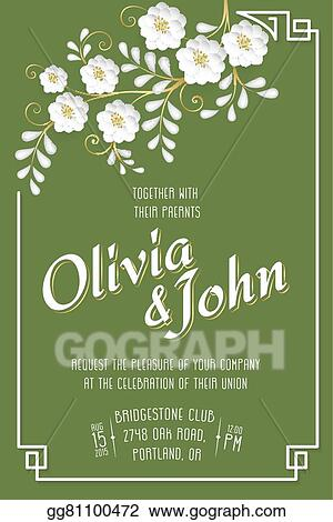 Vector Stock Wedding Invitation Card Vector Invitation