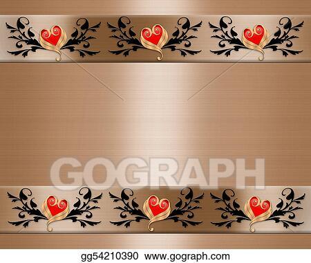 Clip Art Wedding Invitation Elegant Borders Stock Illustration Gg54210390 Gograph