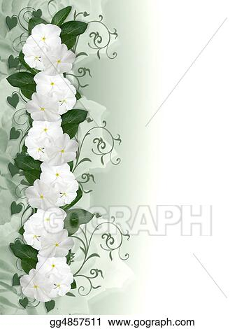 Drawing Wedding Invitation Flowers Border Clipart Drawing