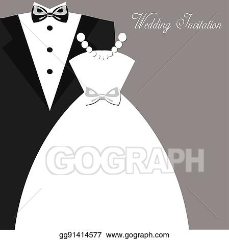 Vector Stock Wedding Invitation Clipart Illustration Gg91414577
