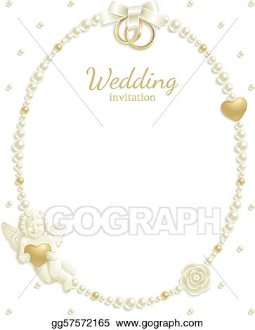 Vector Illustration - Wedding jewel frame. EPS Clipart gg57572165 ...