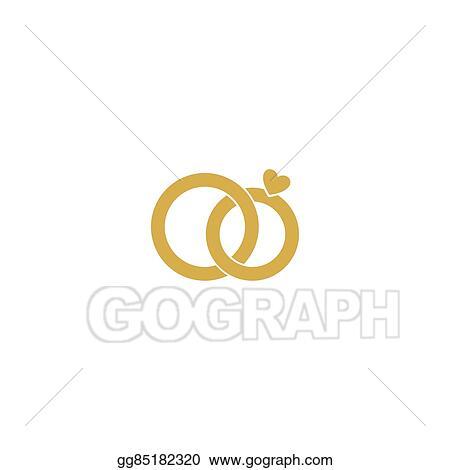 Vector Stock Wedding Logogold Wedding Ringsylized Engagement