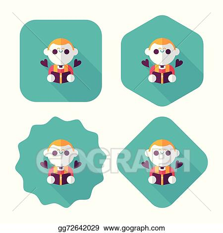Wedding Priest Flat Icon With Long Shadow Eps10 Presiding Over