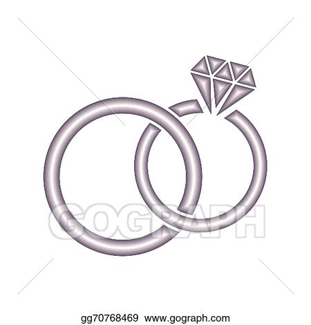 Clip Art Vector Wedding Rings Stock Eps Gg70768469 Gograph