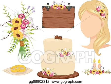 Vector stock wedding theme rustic elements clipart illustration wedding theme rustic elements junglespirit Gallery