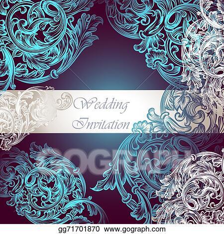 Clip art wedding vector invitation with swirl ornament stock wedding vector invitation with swirl ornament stopboris Images