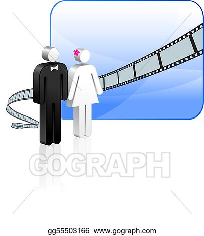 Eps Illustration Wedding Video Background Vector Clipart