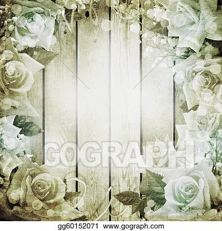 clipart wedding vintage romantic background with roses stock illustration gg60152071 gograph gograph