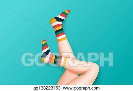 Socken abdrücke den von beinen an Kompressionsstrümpfe von