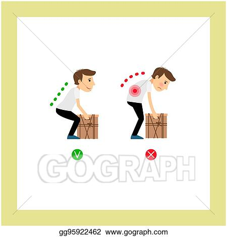 vector stock weight lifting correct and incorrect Man Lifting Weights Clip Art Funny Weight Lifting Clip Art