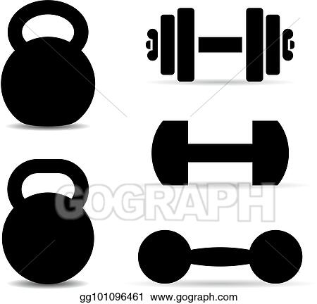 Weight Training Equipment Vector Icons