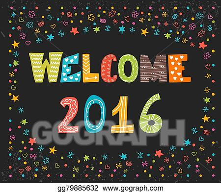 Vector stock welcome 2016 happy new year cute greeting card happy new year cute greeting card happy holidays m4hsunfo