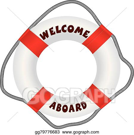 9698f93f8875 Clip Art Vector - Welcome aboard lifebuoy. Stock EPS gg79776683 ...