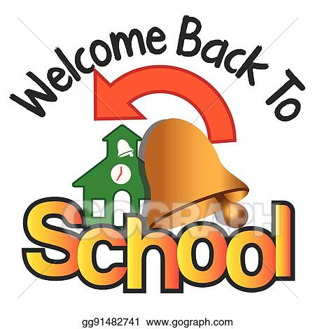 clip art vector welcome back to school stock eps gg91482741 gograph rh gograph com clipart welcome back to school welcome back to school banner clipart