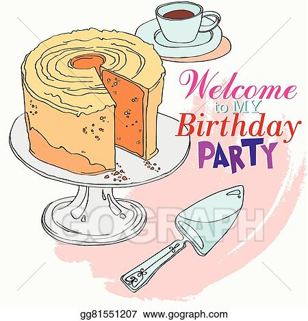 Vector Stock Welcome To The Party For My Birthday Clipart