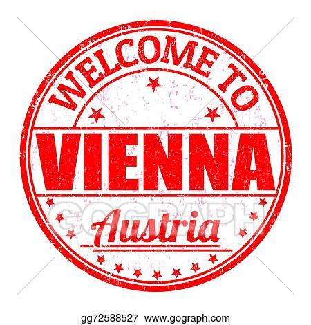 Welcome To Vienna Austria Stamp