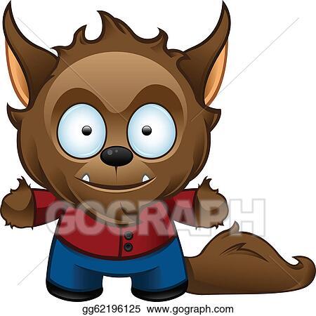 vector art werewolf monster happy clipart drawing gg62196125 rh gograph com werewolf clipart free cute werewolf clipart