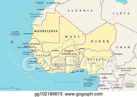 west africa political map Vector Stock West Africa Region Political Map Stock Clip Art Gg102189873 Gograph west africa political map