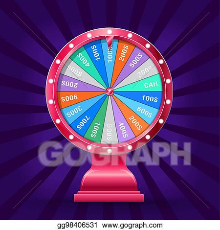 Clip Art Vector - Wheel of fortune isolated  Stock EPS