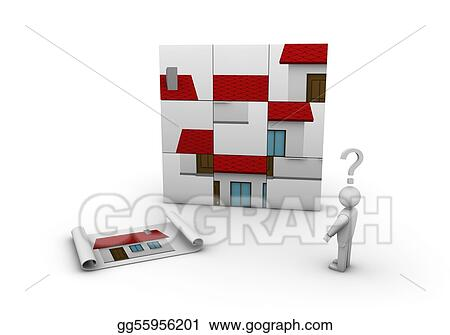 Stock illustration when do it yourself does not work clipart stock illustration one 3d man that try to build a house clipart illustrations gg55956201 solutioingenieria Images