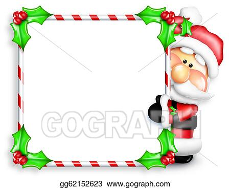 8f6fe5c9eb65b Stock Illustration - Whimsical cartoon santa sign. Clipart ...